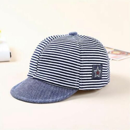 Fashion Baby Boy Hat Striped Soft Cotton Sunhat Eaves Baseball Cap Sun Hat Beret