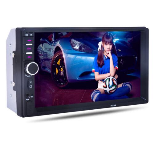 "DC12V 7/"" 2Din HD Car Stereo Radio Bluetooth MP5 Player USB//TF//AUX IN+Camera Kit"