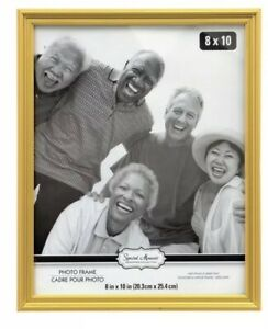 Special-Moments-8x10-034-Photo-Frame-Gold-with-easel-back-glass-pane-NEW