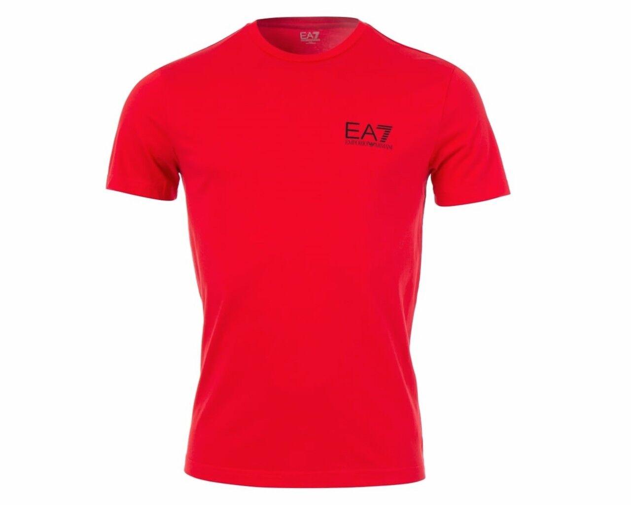 EMPORIO ARMANI 6YPT51 PJ30Z EA7 Girocollo Da Uomo T-shirt di colore rosso