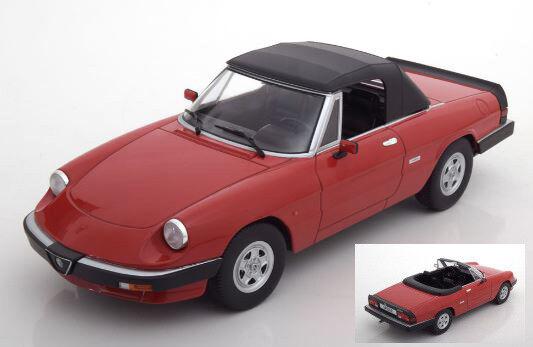 Alfa romeo spider - 3a - serie duetto 1986 rote 1,18 modell kk - skala