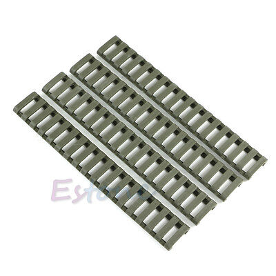 4pcs/set Ladder Rail Cover 17 slot Handguard Weaver Picatinny Heat Resistant