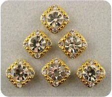 2 Hole Beads Crystal GALA 8mm Clear Swarovski Elements ~ GOLD ~ Sliders QTY 6