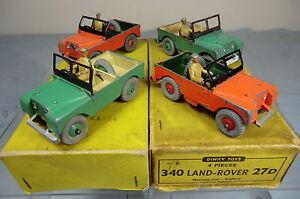Boite Vintage pour Commerce Dinky Toys Modèle No.27d (340) 4 X VN Mib de Land Rover
