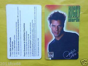 cartes-telephone-1998-phone-cards-100-units-ricky-martin-rare-telefonkarten-gq
