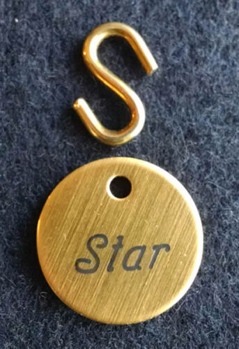 "BRIDLE TAG THICK 3//4/"" CUSTOM ENGRAVED SOLID BRASS HORSE PET"