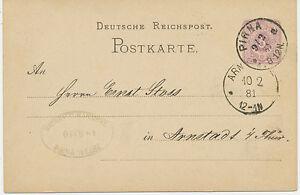 DT-REICH-PIRNA-Sachsen-K1-a-5-Pfennig-GA-Postkarte-m-privater-Zudruck