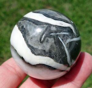 Jasper-Quartz-Shell-Fossil-in-Matrix-Crystal-Healing-Sphere-Ball-Rock