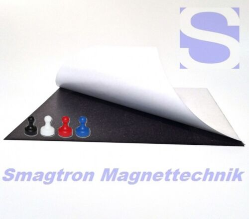 594mm x 841mm x 0,4 Eisenfolie Ferrofolie selbstklebend DIN A1-0,4mm Stark