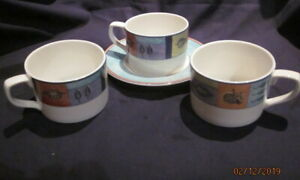 ROYAL DOULTON TRAILFINDER 3 TEA CUPS AND 1 SAUCER STOCK CLEARANCE