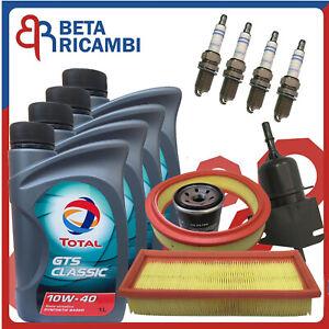 Kit-Tagliando-Fiat-Seicento-1-1-Benzina-600-3-Filtri-4-Candele-Olio-10W40
