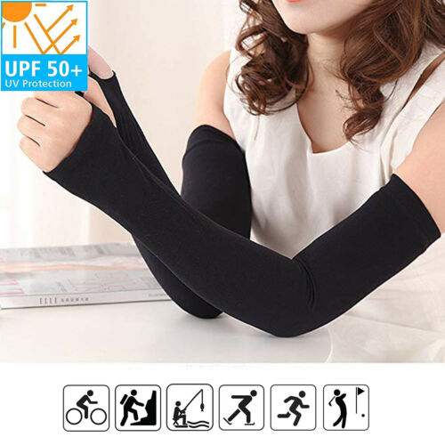 Men Women Arm Sleeves Summer Sun UV Protection Cycling Running Arm Cover lot