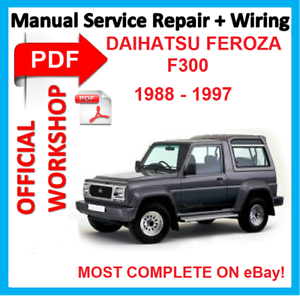 Details about # OFFICIAL WORKSHOP MANUAL service REPAIR FOR Daihatsu on