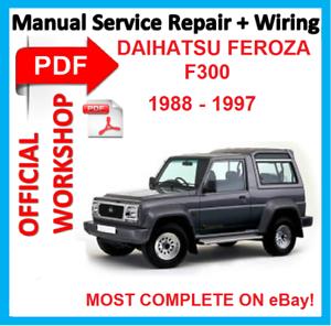 official workshop manual service repair for daihatsu feroza f300 rh ebay co uk daihatsu feroza manuale officina daihatsu feroza manual free