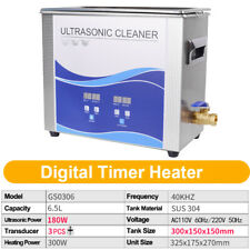65l Ultrasonic Cleaner Stainless Steel Withheating For Metal Hardwaredental Tool