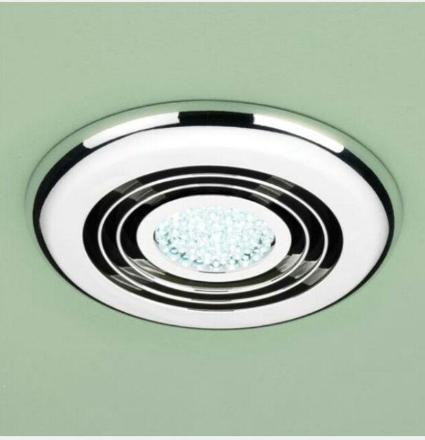 Awe Inspiring Hib Turbo Inline Chrome Ceiling Extractor Bathroom Fan Led Light Timer 32300 Interior Design Ideas Gentotryabchikinfo
