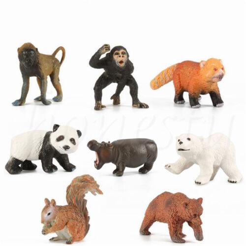 Simulazione Fauna Selvatica Zoo Fattoria Animale Scoiattolo Modello Figura Bambini Giocattolo Collectibles