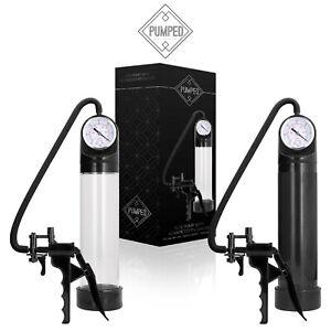 Pumped Elite Pump with Advanced PSI Gauge Uomo Sviluppo Pene Aumento Dimensioni