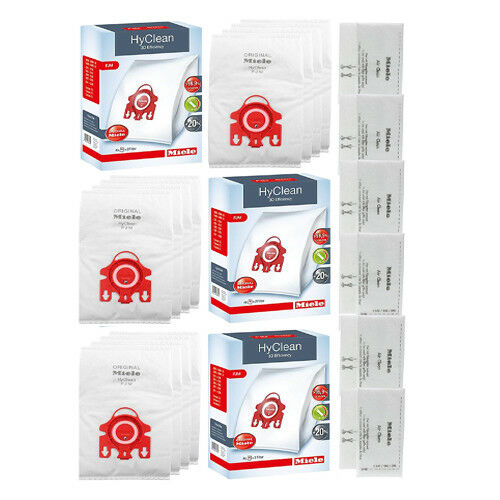 Miele Bags FJM HyClean//AirClean Vacuum Bags x 12 /& 6 x Filters Genuine