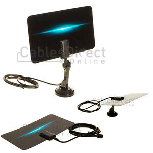 digital indoor leaf flat tv antenna hdtv dtv signal