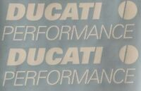 Ducati Performance Vinyl Decals. White. Or Choose Your Color