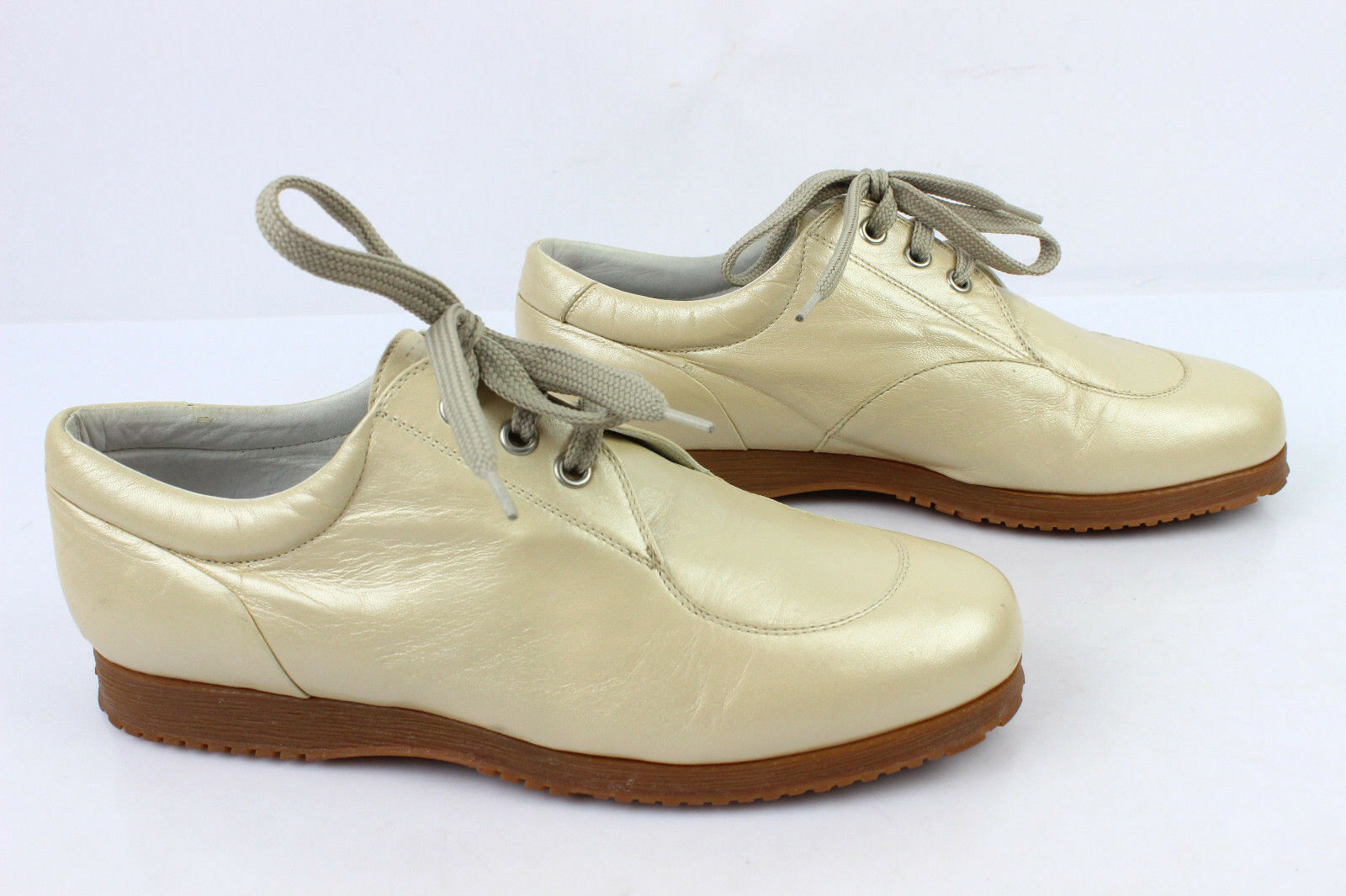 Derby shoes U.S.E. Leather VERY Golden Beige T 38 VERY Leather GOOD CONDITION 265c94
