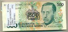 BRAZIL BUNDLE 100 NOTES 500 CRUZEIROS (1990) P 226b UNC