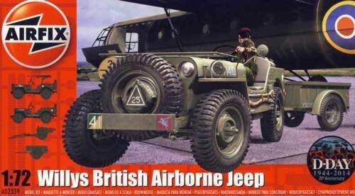 Airfix Willys Jeep Trailer /& 6PDR Gun Modell-Bausatz 1:72 Normandy Belgium 1944