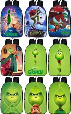 The Grinch Backpack How the Grinch Stole Christmas School Bag Rucksack 17/""