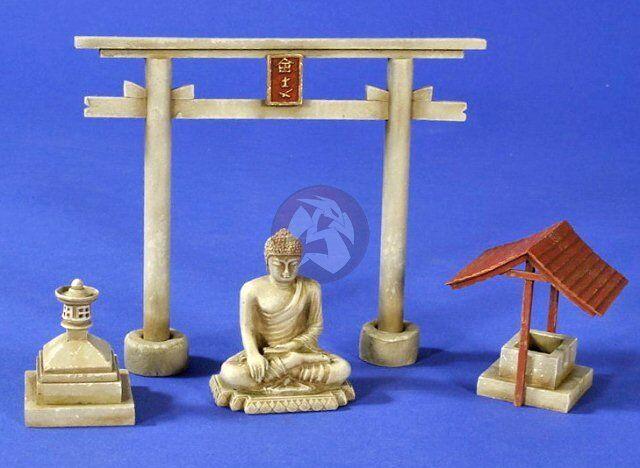 Verlinden 1 35 Japanese Shinto Shrine Elements Pacific War WWII [Diorama] 2675