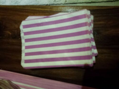 Pink White Candy Stripe Paper Sweet Bag Wedding Pick n Mix 7 x 5 14 x 18 19 x 21