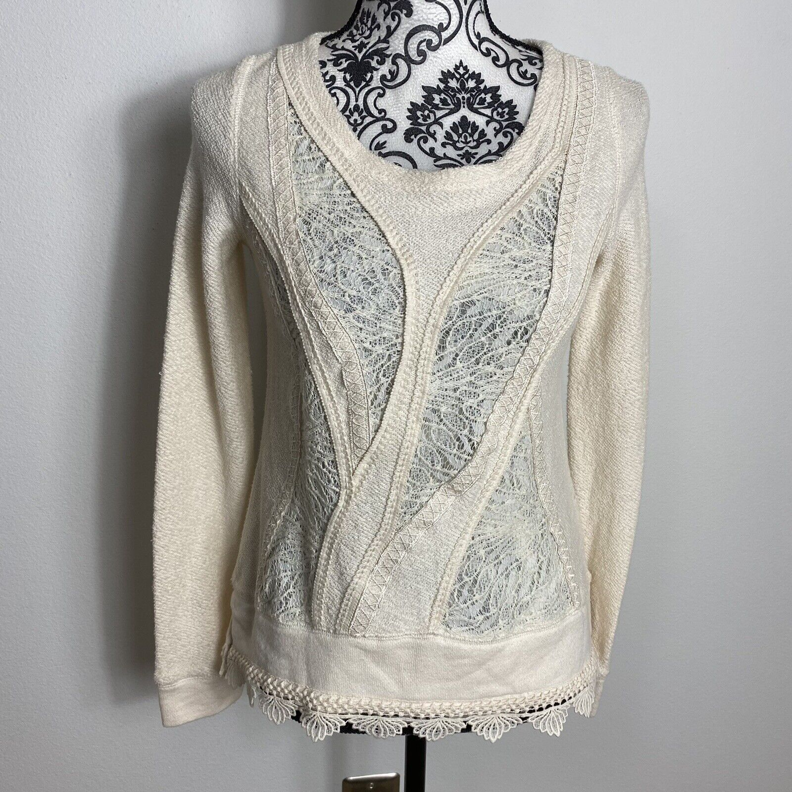 Angel Of The North Fairycore Lace Detail Sweater … - image 4