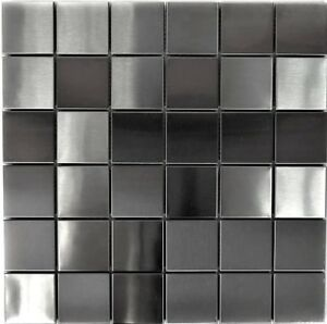 ARGENTO-mosaico-acciaio-inox-spazzolato-opaco-Specchio-Piastrelle-Cucina-129-48d-10-Tappetini