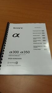 sony slr a300 350 slr camera full printed instruction manual user rh ebay ie Sony 300 Camera Sony Alpha