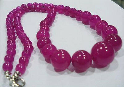 Charming! 6-14mm Brazilian Rose Ruby Necklace 18'' AAA