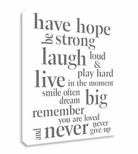 Image Is Loading Have Hope Inspirational Quote Canvas Wall Art Picture  Part 80