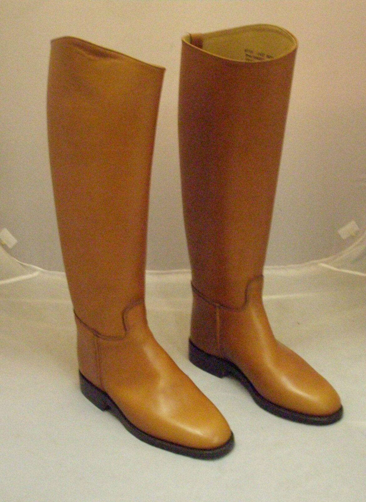 Regent Royale Long Leather Riding Stiefel braun Tan Größe 5 Short Wide