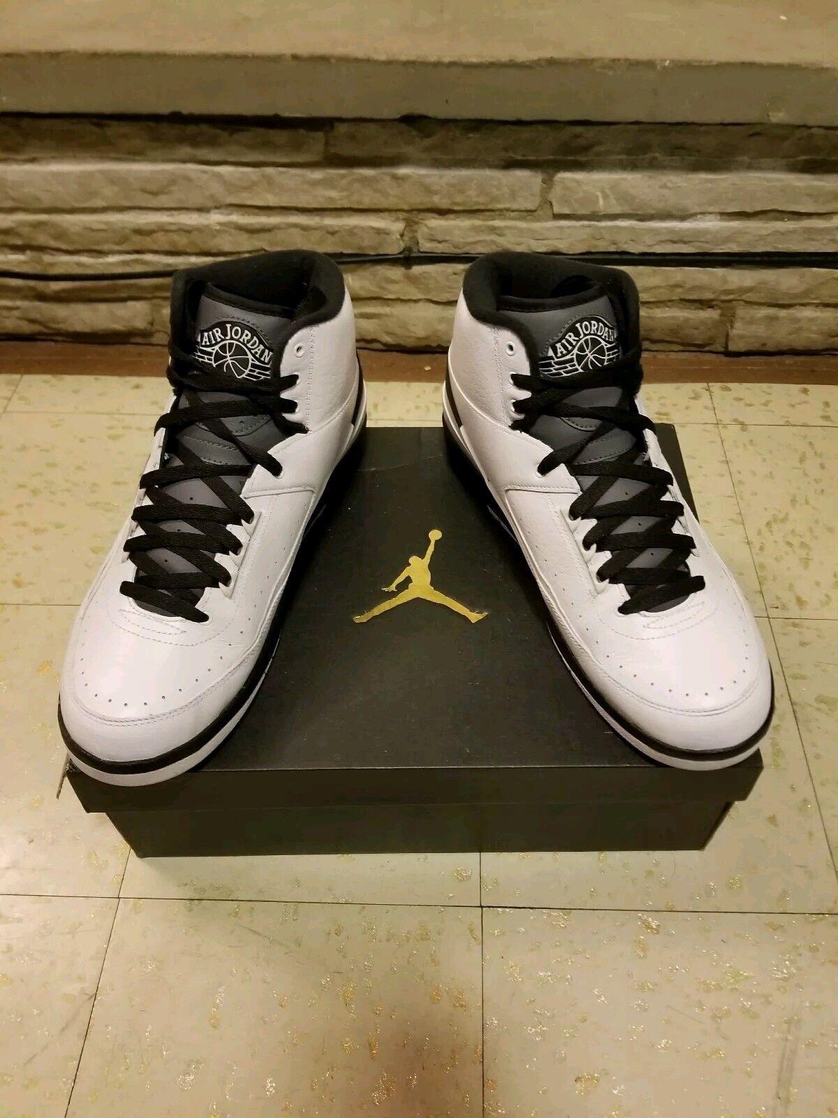 Nike Air Jordan 2 II Retro Wing It Black White Dark Grey men's sz 12