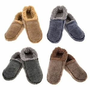 6c5a81864523 Men s Snoozies Two Tone Sherpa Fleece Lined Slipper Foot Coverings ...