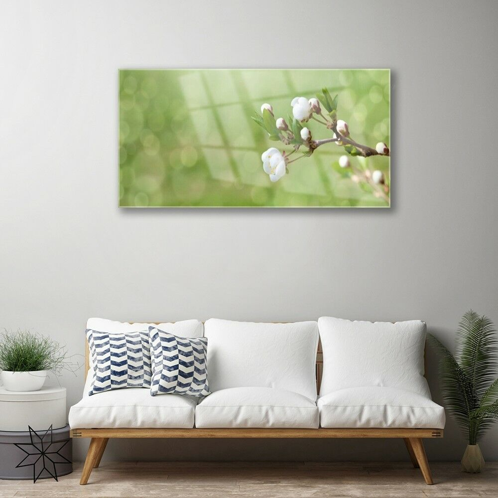 Print on Glass Glass Glass Wall art 100x50 Picture Image Flowers Floral edb98e