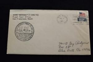 Navale-Cover-1972-Nave-Cancel-SHIP-039-S-Marchio-Usns-Nodaway-T-AOG-78-1560