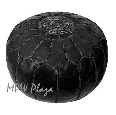 available Stuffed or Un-stuffed MPWplaza\u00ae Square Pouf moroccan leather ottoman