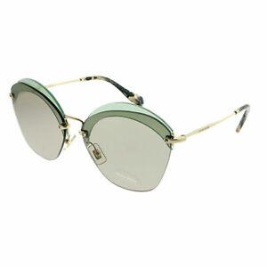 82dd5cbbcb2 Miu Miu MU 53SS VX15J2 Transparent Green Plastic Square Sunglasses ...