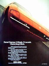 1972 FERRARI 'Daytona' Motor Car Ad - Original Borg & Beck Clutches Advert Print