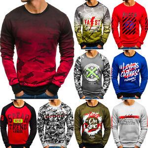 Herren Sweatshirt Langarmshirt Pullover Pulli Rundhals Motiv BOLF 1A1 Classic