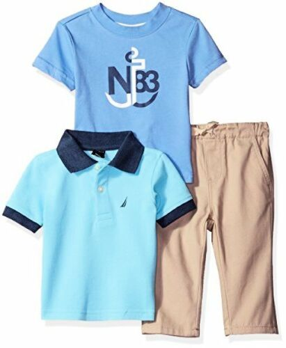Nautica Childrens Apparel Baby Boys Short Sleeve Polo and Tee Three