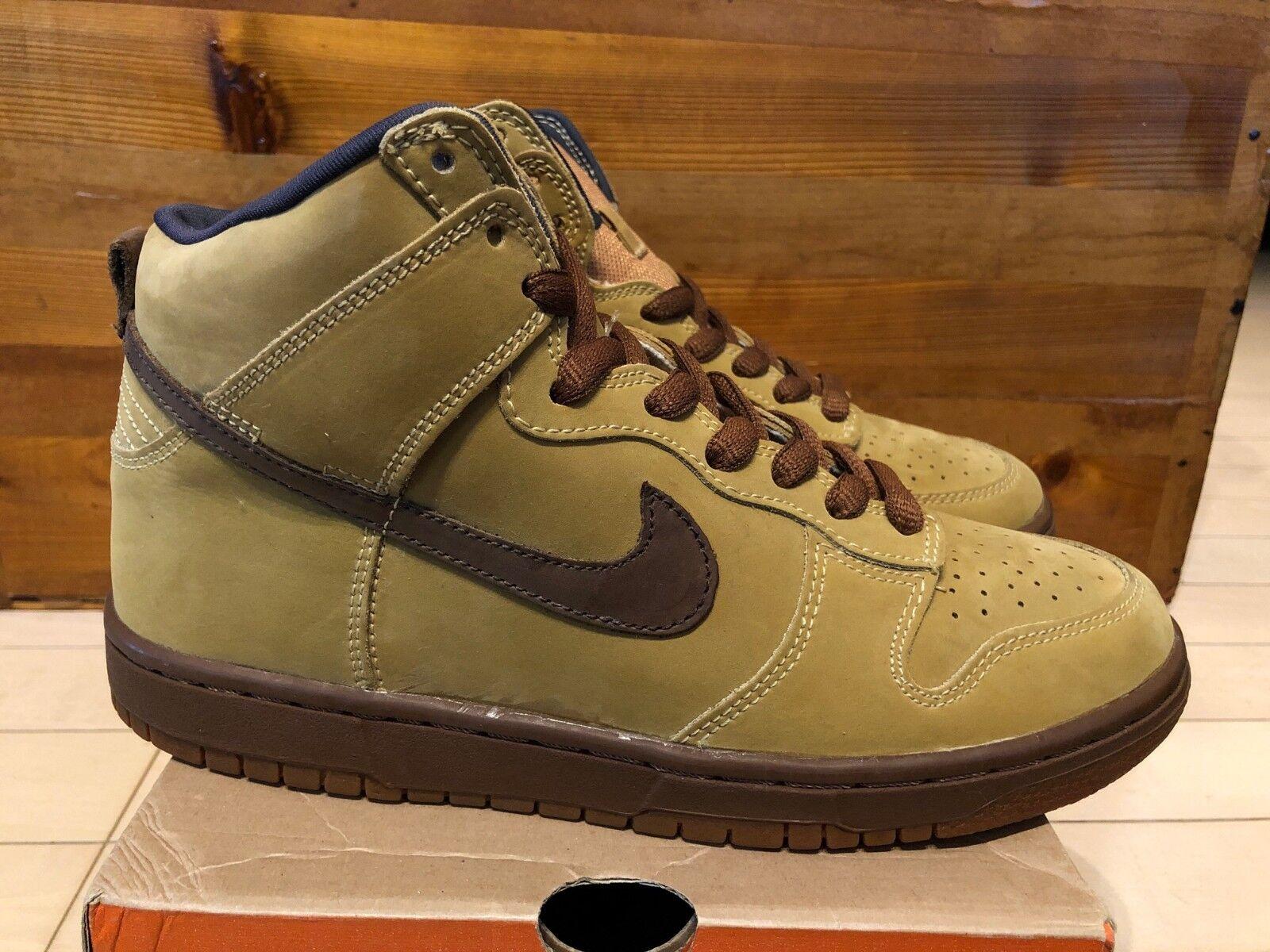 2002 Nike Dunk Hi Pro SB Maple Brown Wheat Bison size 7.5