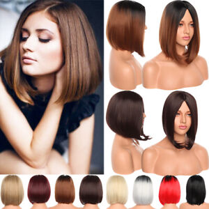 Women-Short-Straight-Wigs-Omrbe-Brown-Fashion-Full-Wig-Bob-Natural-Party-Cosplay