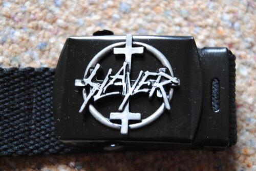Slayer 4 Croci BADGE WEB CINTURA FIBBIA NUOVO SIGILLATO UFFICIALE Reign in Blood THRASH