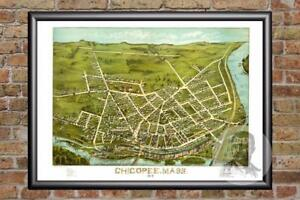 Vintage-Chicopee-MA-Map-1878-Historic-Massachusetts-Art-Victorian-Industrial